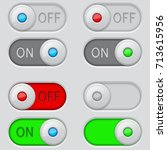 toggle switch buttons. on and... | Shutterstock . vector #713615956