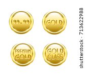 set of gold icons  vector... | Shutterstock .eps vector #713622988