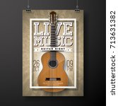live music flyer design with... | Shutterstock .eps vector #713631382