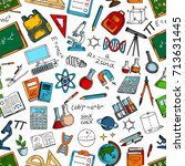 science and education seamless... | Shutterstock .eps vector #713631445