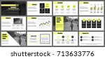 business presentation slides... | Shutterstock .eps vector #713633776