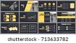 business presentation slides... | Shutterstock .eps vector #713633782