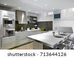 interiors shots of a modern... | Shutterstock . vector #713644126