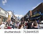 people celebrating hull freedom ...   Shutterstock . vector #713644525