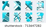 set of layout cover template.... | Shutterstock .eps vector #713647282