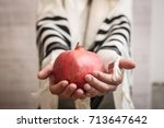 a religious jew wrapped in a ... | Shutterstock . vector #713647642
