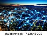 smart city and... | Shutterstock . vector #713649202