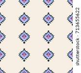 seamless pattern geometric art... | Shutterstock .eps vector #713655622