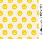 seamless pattern halloween art... | Shutterstock .eps vector #713655982