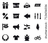 shopping icon set | Shutterstock .eps vector #713656036