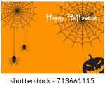 spider web and halloween... | Shutterstock .eps vector #713661115
