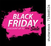 black friday sale on abstract... | Shutterstock .eps vector #713668126