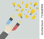 minimalistic illustration of a... | Shutterstock .eps vector #713668306