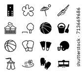 recreation icons set. set of 16 ...   Shutterstock .eps vector #713669686