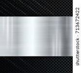 abstract metallic aluminium... | Shutterstock .eps vector #713672422