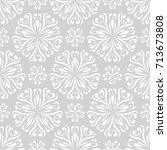 floral seamless pattern. gray...   Shutterstock .eps vector #713673808