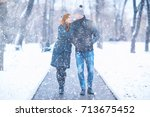 Young Man And Woman In The Sno...