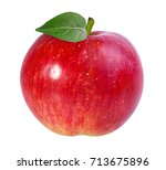apple isolated on white... | Shutterstock . vector #713675896