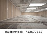 abstract  concrete and wood... | Shutterstock . vector #713677882