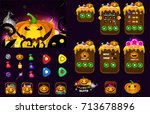 cartoon halloween game user... | Shutterstock .eps vector #713678896