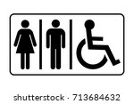 restroom sign. toilet sign with ... | Shutterstock .eps vector #713684632