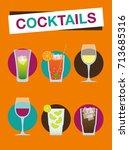 beach cocktails   summer holiday | Shutterstock .eps vector #713685316