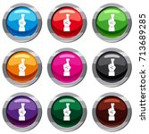 fingers crossed set icon...   Shutterstock .eps vector #713689285