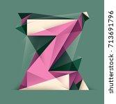 abstract z letter design  made... | Shutterstock .eps vector #713691796