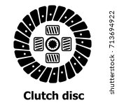 clutch disc icon. simple... | Shutterstock .eps vector #713694922