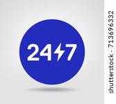 24  7 vector web design element....