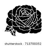 flower rose  monochrome.... | Shutterstock .eps vector #713700352