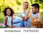 picture of lovely couple with...   Shutterstock . vector #713702335