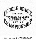 vintage champ print typography | Shutterstock .eps vector #713702485
