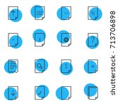 vector illustration of 16 paper ...