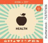 apple   halftone logo. | Shutterstock .eps vector #713707606