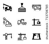 crane icons set. set of 9 crane ...   Shutterstock .eps vector #713708785