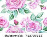 seamless floral pattern with...   Shutterstock . vector #713709118