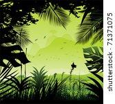 tropical rainforest. | Shutterstock .eps vector #71371075