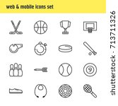 vector illustration of 16... | Shutterstock .eps vector #713711326