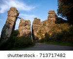 the externsteine  famous... | Shutterstock . vector #713717482