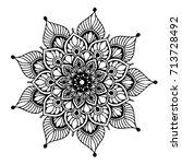 mandalas for coloring book.... | Shutterstock .eps vector #713728492