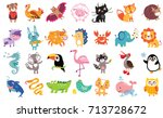 vector illustration of cute... | Shutterstock .eps vector #713728672