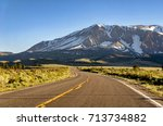 Snow Capped Mountains In The...