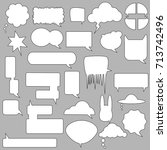 stickers of speech bubbles... | Shutterstock .eps vector #713742496