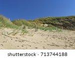 dune at the atlantic ocean ... | Shutterstock . vector #713744188