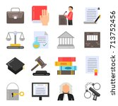 symbols of legal regulations.... | Shutterstock .eps vector #713752456