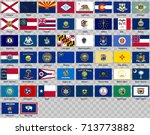 set of icons. flags of the... | Shutterstock .eps vector #713773882