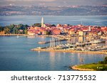 aerial view of old fishing town ...   Shutterstock . vector #713775532