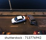 crash or auto accident on the... | Shutterstock . vector #713776942