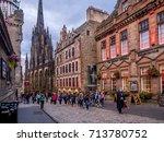 edinburgh  scotland   july 28 ... | Shutterstock . vector #713780752